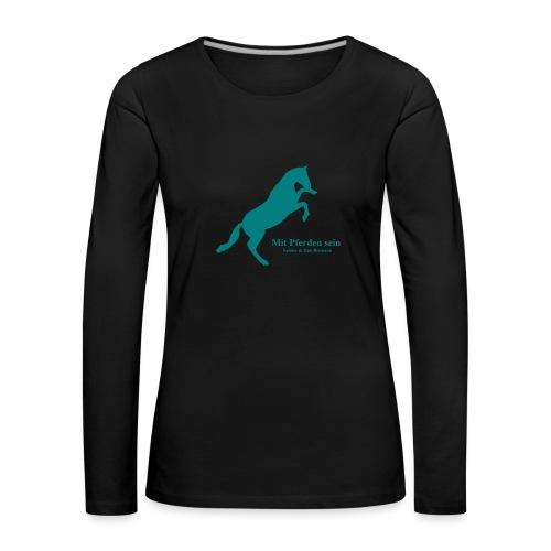 Jaward steigendes Pferd - Frauen Premium Langarmshirt