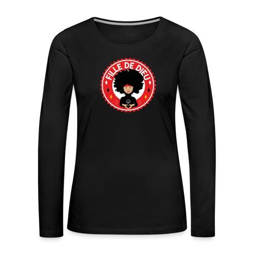 fille de Dieu rouge - T-shirt manches longues Premium Femme