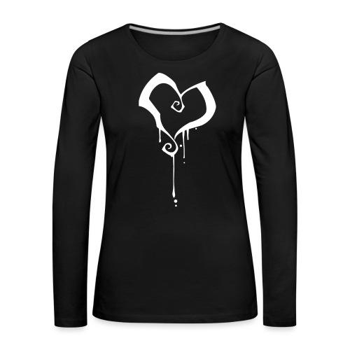 Coeur - T-shirt manches longues Premium Femme