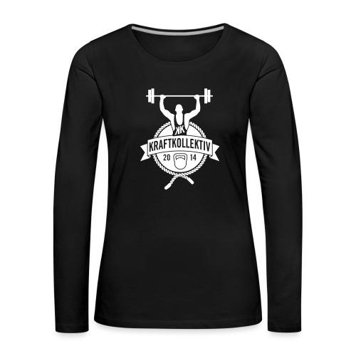 Kraftkollektiv_Logo_clean_white - Frauen Premium Langarmshirt