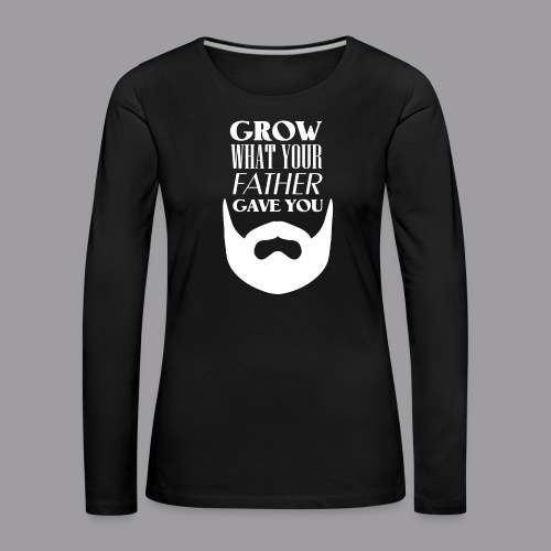 Father Beard W - Frauen Premium Langarmshirt