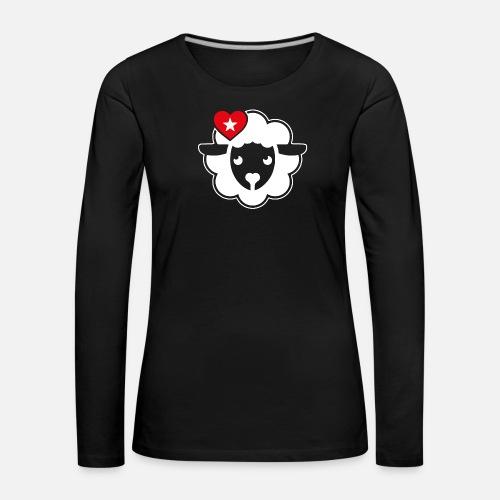Schwarznasen Schaf Love - Frauen Premium Langarmshirt