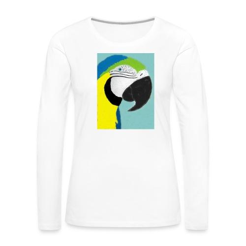 Parrot, new - Naisten premium pitkähihainen t-paita