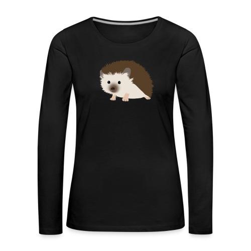 Siili - Naisten premium pitkähihainen t-paita