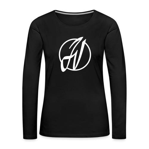 JV Guitars - logo blanc - T-shirt manches longues Premium Femme
