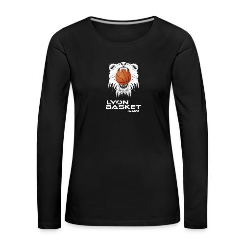 lyon-basket-carré-blanc - T-shirt manches longues Premium Femme