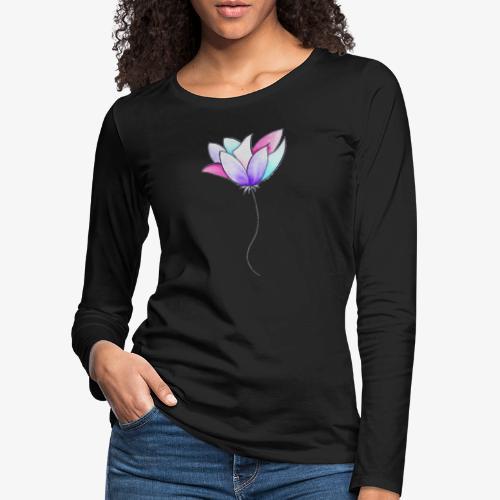 Fleur - T-shirt manches longues Premium Femme