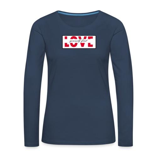 love - Maglietta Premium a manica lunga da donna