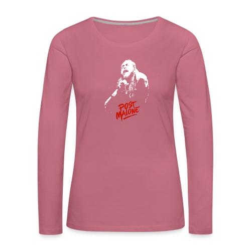 Malone Leave Me - Naisten premium pitkähihainen t-paita