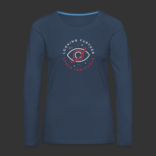Space Individuals - Looking Farther Black - Women's Premium Longsleeve Shirt