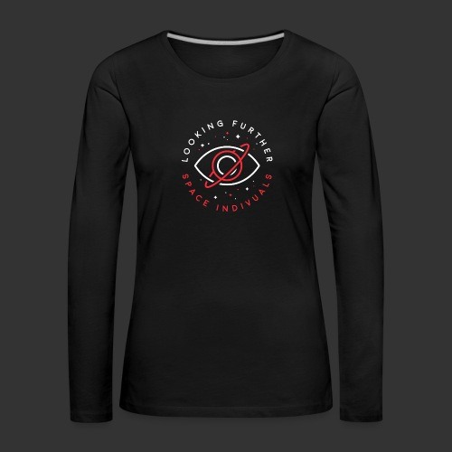 Space Individuals - Looking Farther Black - Women's Premium Longsleeve Shirt