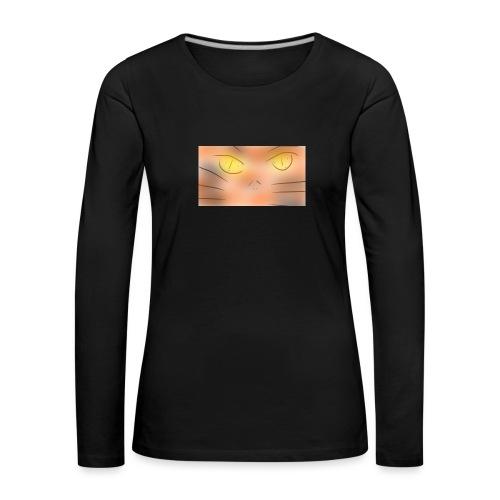 Cat un the un un night gato o animé - Camiseta de manga larga premium mujer