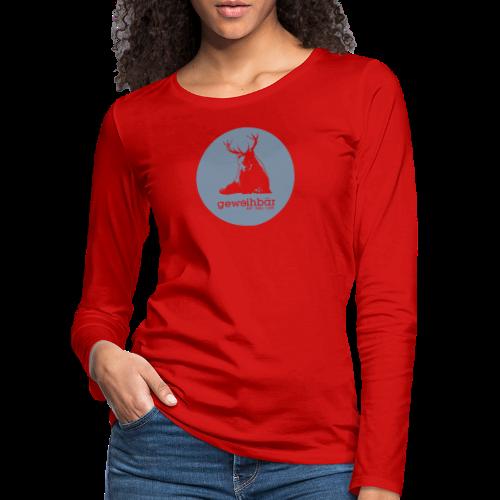 geweihbär - Frauen Premium Langarmshirt