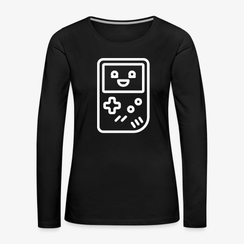 Smiling game console (white) - Women's Premium Longsleeve Shirt