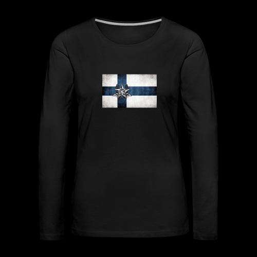 Suomen lippu - Naisten premium pitkähihainen t-paita