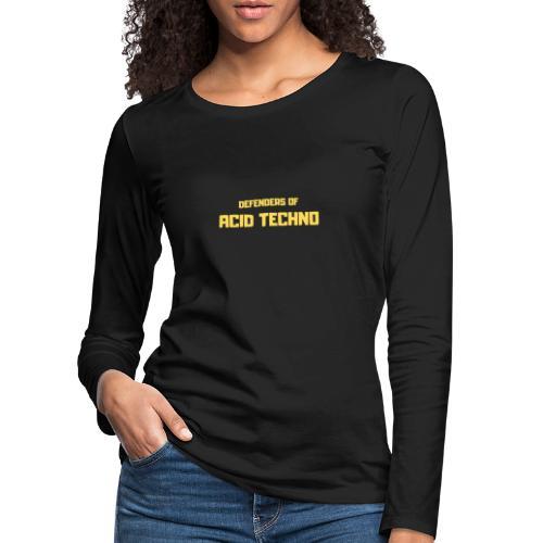 Defenders of Acid Techno [Yellow Print] - Women's Premium Longsleeve Shirt