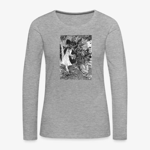 Enter the Linear Dream Orig Edition by Rivinoya - Naisten premium pitkähihainen t-paita