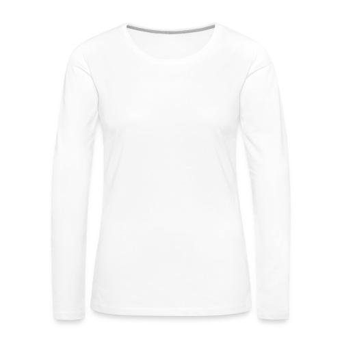 Kissa Kissanpentu valkoinen scribblesirii - Naisten premium pitkähihainen t-paita