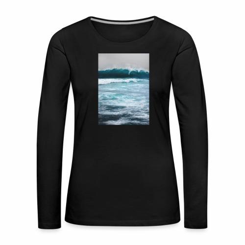 sea - Maglietta Premium a manica lunga da donna