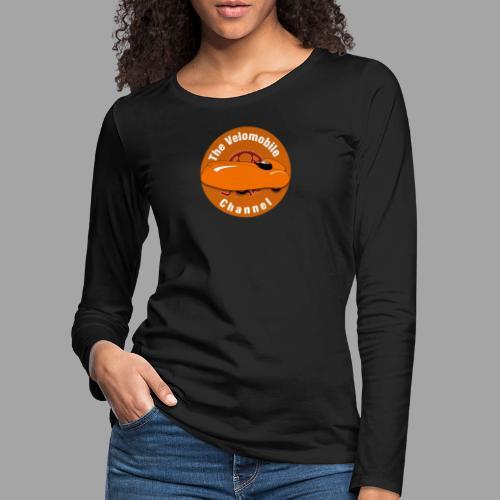 The Velomobile Channel logo - Naisten premium pitkähihainen t-paita