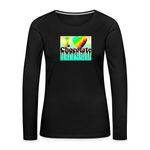 ILOVCHOCO2 copie - T-shirt manches longues Premium Femme