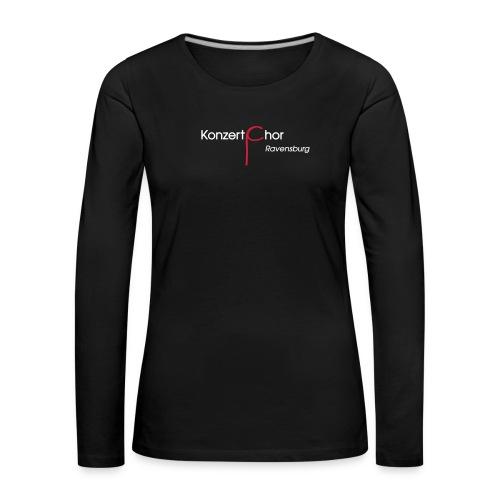 VEREIN KONZERTCHOR RV LOGO svg - Frauen Premium Langarmshirt