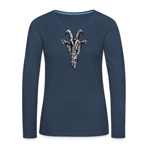 Goat - Premium langermet T-skjorte for kvinner