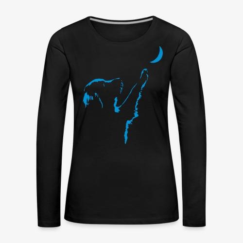 dog moon - Frauen Premium Langarmshirt