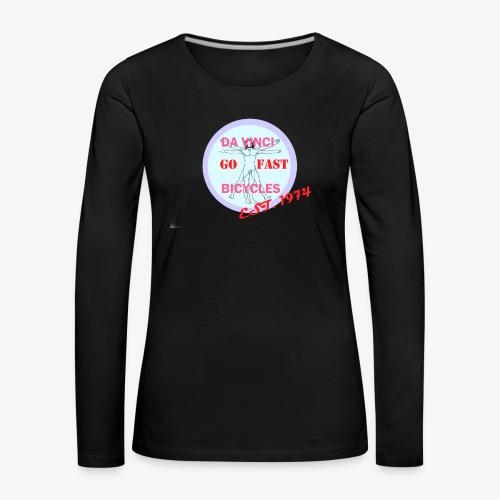 daVinci Bicycles Retro - Naisten premium pitkähihainen t-paita