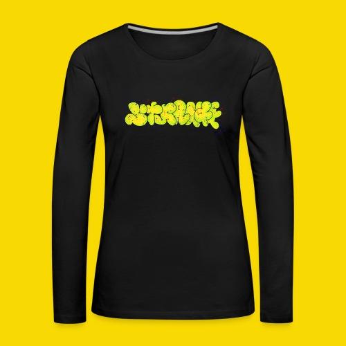 Strange Graffiti - Koszulka damska Premium z długim rękawem