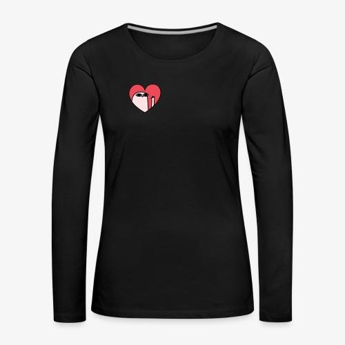 Corazón - Camiseta de manga larga premium mujer