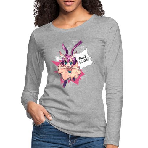 Free hugs (white lines) - Women's Premium Longsleeve Shirt