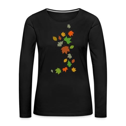 Herbstlaub maple leaf Ahorn Eiche Silhouette - Women's Premium Longsleeve Shirt