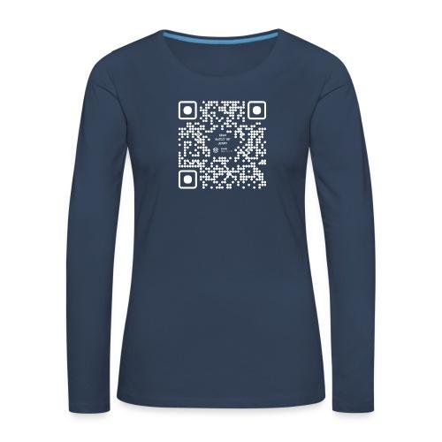 QR The New Internet Should not Be Blockchain Based W - Women's Premium Longsleeve Shirt