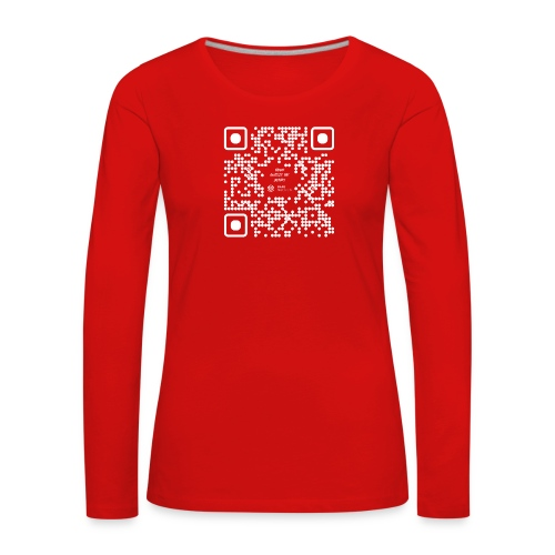 QR The New Internet Should not Be Blockchain Based W - Women's Premium Longsleeve Shirt