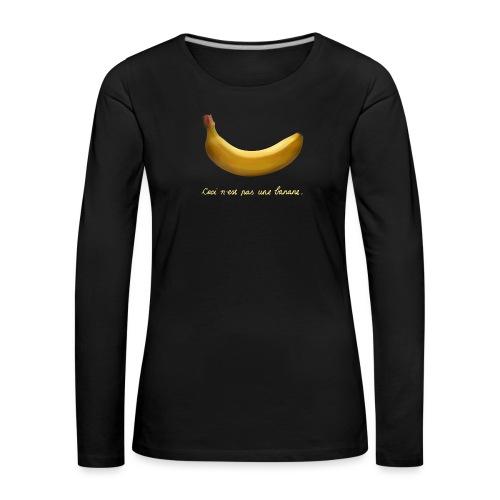 BANAAN 09 - Vrouwen Premium shirt met lange mouwen