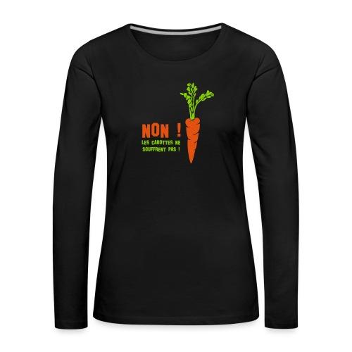 carottes ai - T-shirt manches longues Premium Femme