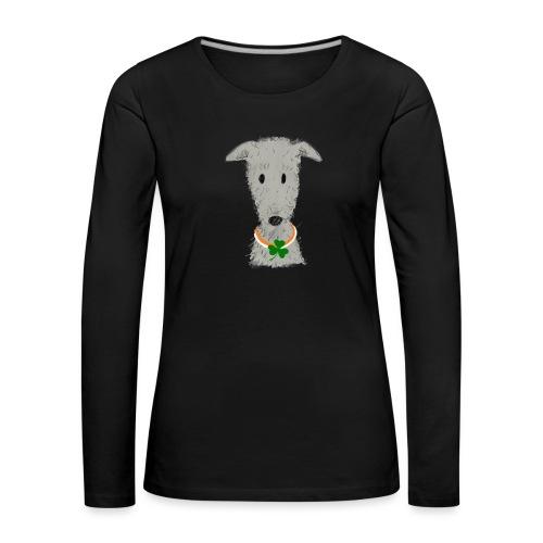 Irish Wolfhound - Frauen Premium Langarmshirt