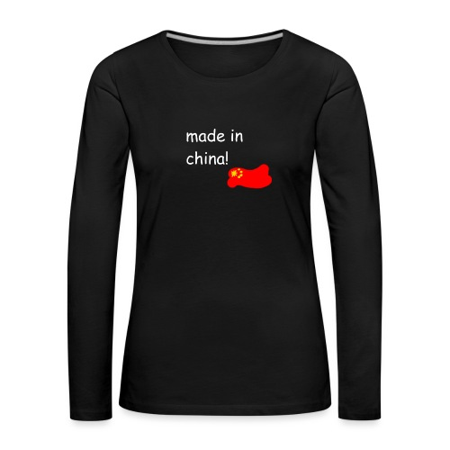 madeinchina - Camiseta de manga larga premium mujer