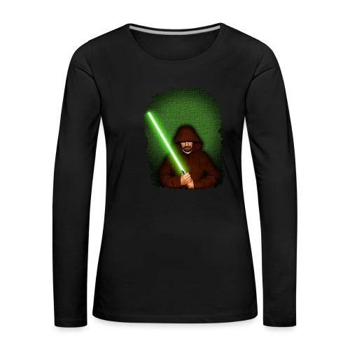 Jedi warrior with green lightsaber - Maglietta Premium a manica lunga da donna