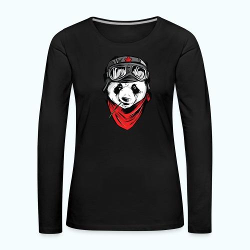 Panda pilot - Women's Premium Longsleeve Shirt