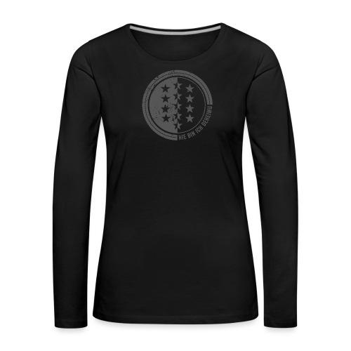 HIE BIN ICH DEHEIMU - Frauen Premium Langarmshirt