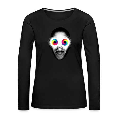 Psykedeliska - Långärmad premium-T-shirt dam