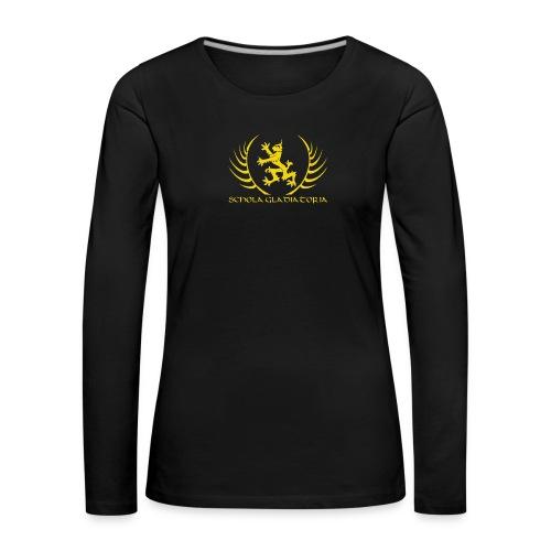 Schola logo with text - Women's Premium Longsleeve Shirt