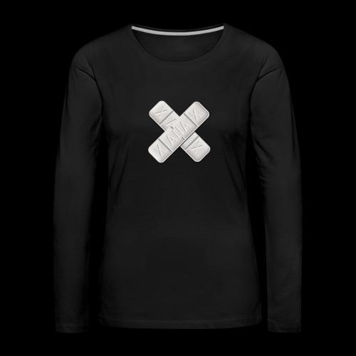 Xanax X Logo - Frauen Premium Langarmshirt