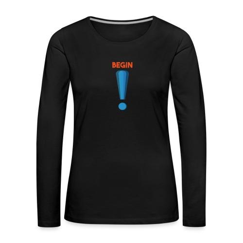 logo point exclamation - T-shirt manches longues Premium Femme