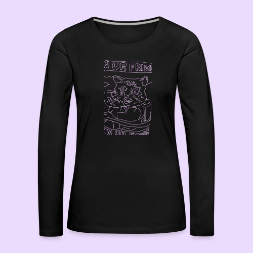 vegan cat - Women's Premium Longsleeve Shirt