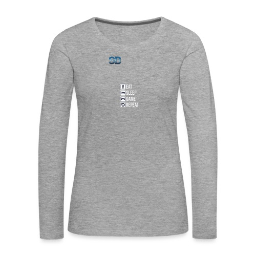 Eat Sleep Game Repeat - Dame premium T-shirt med lange ærmer