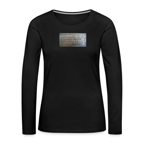Tillverkningsskylt före 1967 - Långärmad premium-T-shirt dam