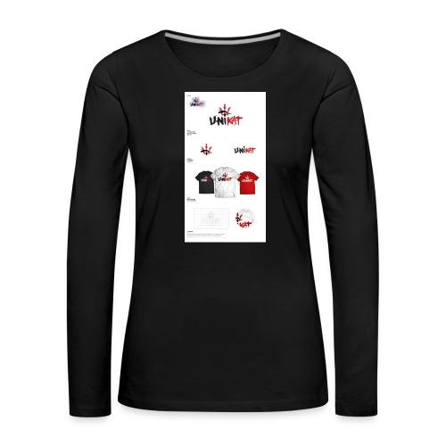 unikat_1 - Koszulka damska Premium z długim rękawem